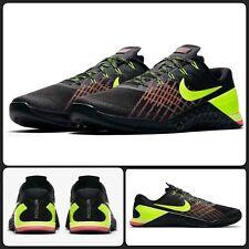 bb1a072f2cb4a2 Nike Metcon 3 Men s Sz 9.5 Training Gym Shoes Black White Silver ...