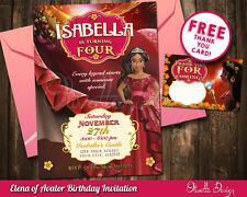 Elena of Avalor birthday party invitation personalized U PRINT printable