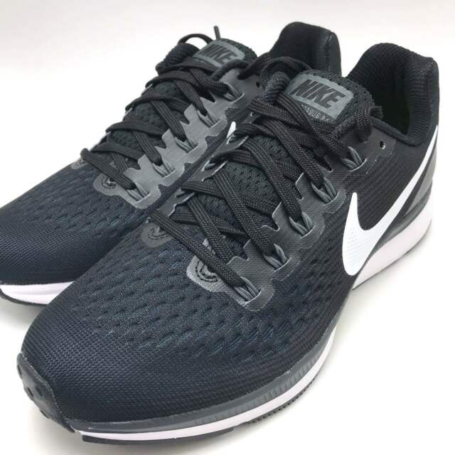 big sale db670 c21e4 Nike Women s Air Zoom Pegasus 34 Running Shoes Black White-Dark Grey 880560-