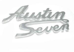 Neue-Reproduction-Frontbespannung-Austin-Seven-Logo-Script-Abzeichen-Metall-verc