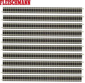 Fleischmann-N-9100-S-Gerades-Gleis-222-mm-10-Stueck-NEU