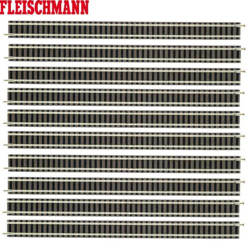 10 Stück NEU Fleischmann N 9100-S Gerades Gleis 222 mm