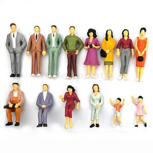 De S About 100pcs Set Ho Scale Mix Painted Model Street P Enger People Figures Sale