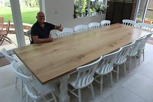 Image Is Loading 12 14 Seater Large Chunky Dining Table Thick
