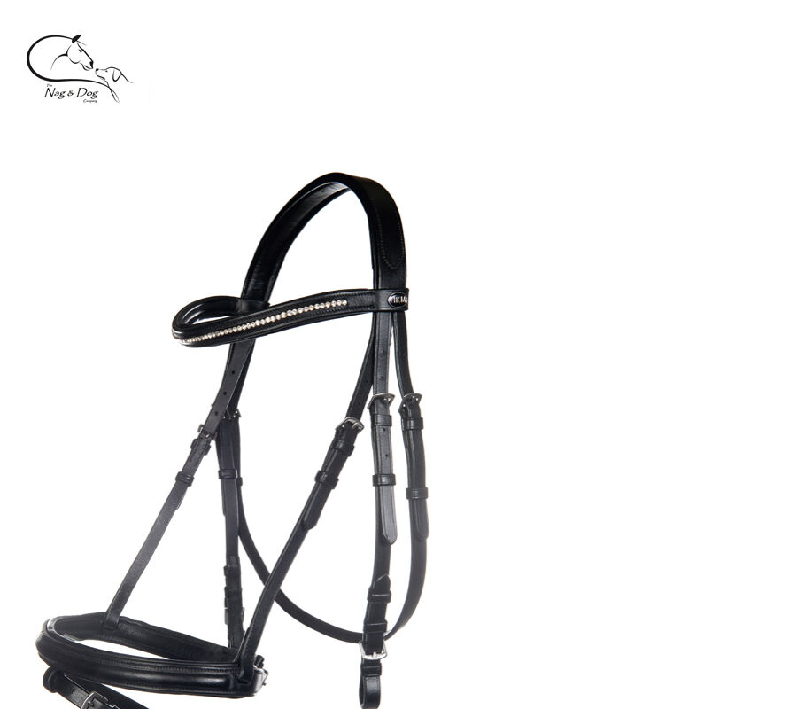 Leather Bridle with Reins  Flash Nose Diamante Pony Cob Full FREE P&P  we offer various famous brand