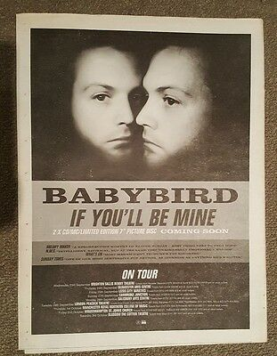 Entertainment Memorabilia Sweet-Tempered Babybird You'll Be Mine Tour 1998 Press Advert Full Page 30 X 40 Cm Mini Poster To Help Digest Greasy Food