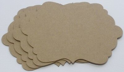 {4} *ELEGANT NOTES* Style 1 - Mats / Labels / Frames Bare Chipboard Die Cuts