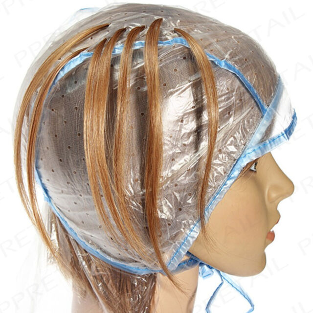 Hairworks Hair Highlighting Cap And Hook Professional Dye