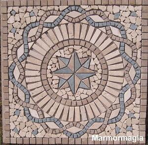 Travertin-Marmor-Antikmarmor-Naturstein-Fliese-Rosone-61x61x1cm
