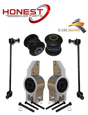 For VW TOURAN 2003/> FRONT SUSPENSION WISHBONE ARM BUSHS X2 MIDDLE Karlmann NEW