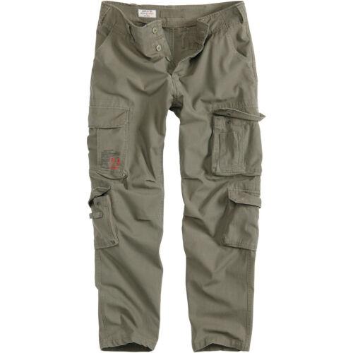 Surplus Airborne Slimmy Trousers Mens Slim Fit Combat Pants Army Cargos Olive