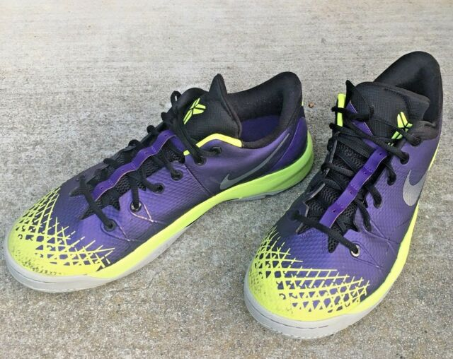best sneakers cb448 51e2c Nike Air Kobe Zoom 4 Venomenon Mens Size 13 Purple Volt Retro Lakers  635578-500