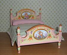 Dollhouse Miniature Painted Peter Rabbit Bed Potter Nursery Child 1:12 L.Lassige