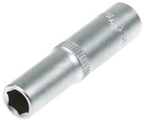 Steckschluessel-SW-7-mm-1-4-Zoll-Werkzeug-Kfz-Stecknuss-Aussen-Sechskant-lang-Nuss