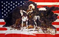 Us Indian Chief Historical 3' X 5' Banner Flag
