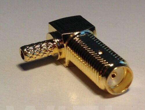 RG174 LOW LOSS COAX RF CABLE ANGLE TS9 MALE TO SMA or RP-SMA M//F STRAIGHT ANGLE