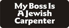 3 - My Boss Is A Jewish Carpenter Hard Hat Biker Helmet Sticker Bs410 3