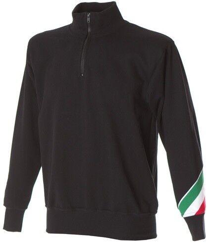 Italia Felpa Lupetto A Trento Mezza Uomo Collo Zip Jrc Cotone Tricolore Maglia 1g4UqnAdg