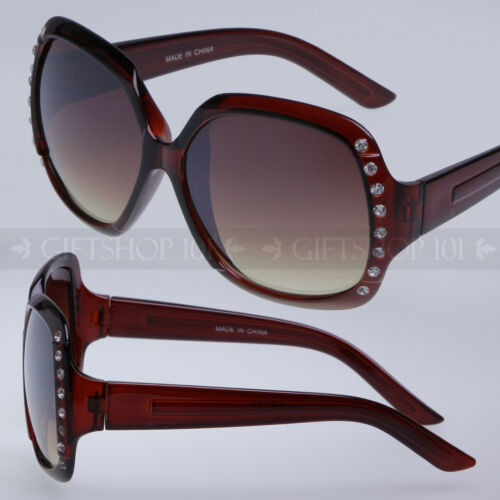 Women/'s Rhinestones Fashion Designer Sunglasses Shades Retro Large Shatterproof