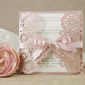 Szczegóły O Personalised Laser Cut Wedding Invitation Handmade Wedding Cards Free Envelopes