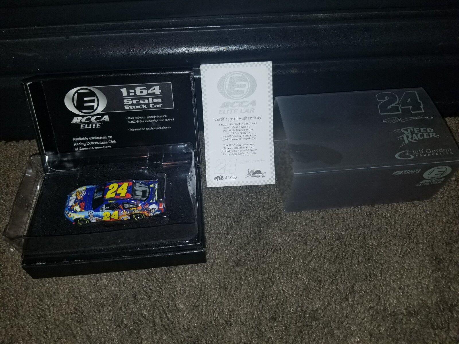Jeff Gordon Foundation Speed Racer Elite 1 64 Scale with authenticity
