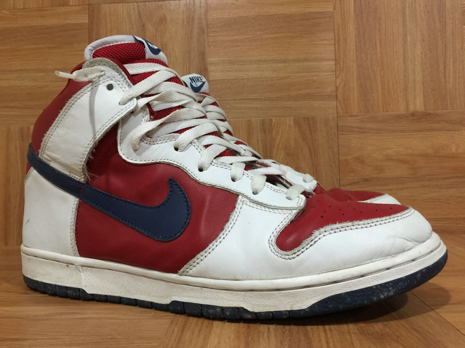 Vintage Nike Dunk High Los Angeles Clippers Rapid bluee White Red 12 305287-141