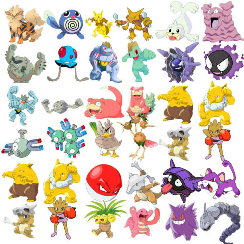 100pc POKEMON GO Pikachu Cartoon Stickers Laptop Sticker Luggage Decal USA Ship!
