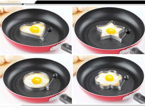 4 Kind en forme de Cuisson Oeuf Pancake Ring Mold Shaper cuisine en acier inoxydable