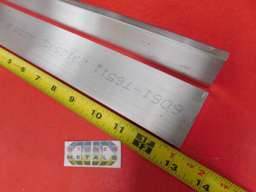 "2 pieces 1//4/"" X 2/"" ALUMINUM 6061 FLAT BAR 13/"" long T6511 Solid Mill Stock"