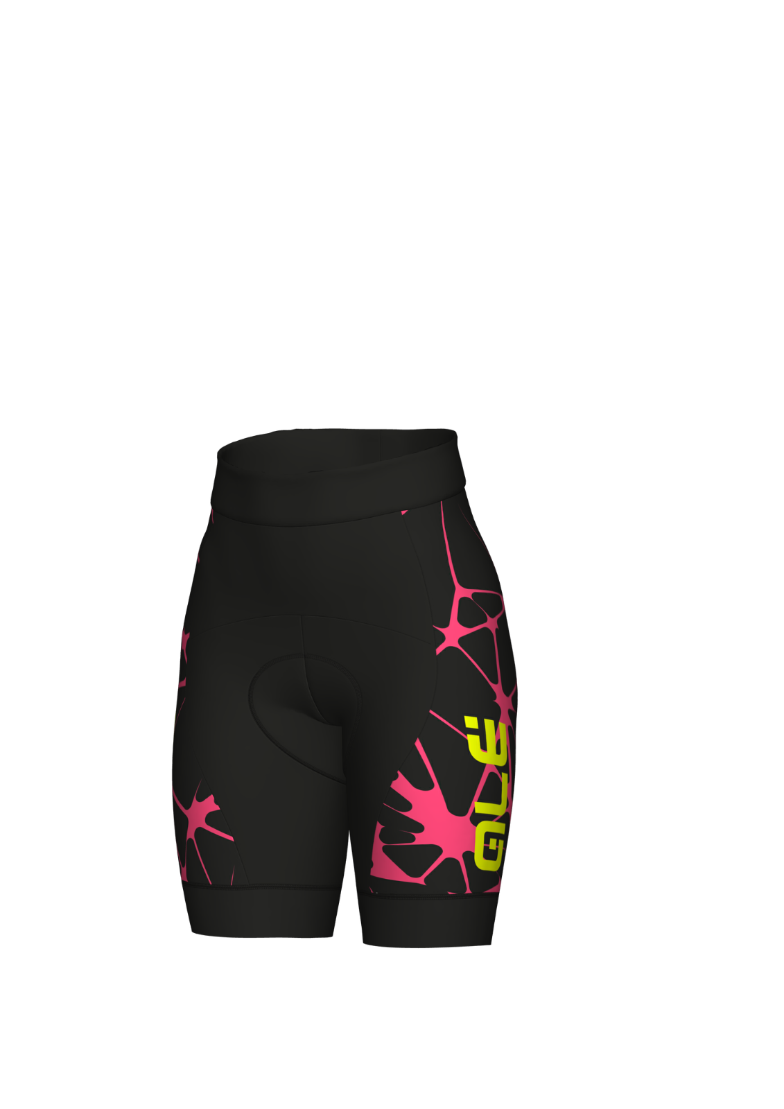 PANTALONCINO ALE' CRACLE W W CRACLE NERO ROSA FLUO Größe XL f23a43