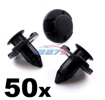 50x 10mm push fit honda calandre pare-choc /& moteur sous plateau trim panel clips