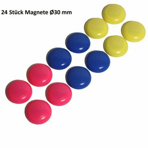 24 x Magnet Magnete Pinnwand Whiteboard Flipchart Magnettafel Kühlschrank