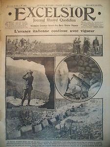 WW1-N-2052-FRONT-SUCCES-ITALIEN-CADORNA-BAZAR-DES-ALLIeS-JOURNAL-EXCELSIOR-1916