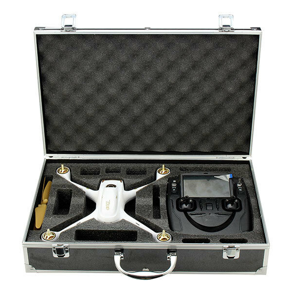 UK realacc aluminum RACCOGLITORE carrying case Hubsan h501s x4 RC Quadcopter Drone