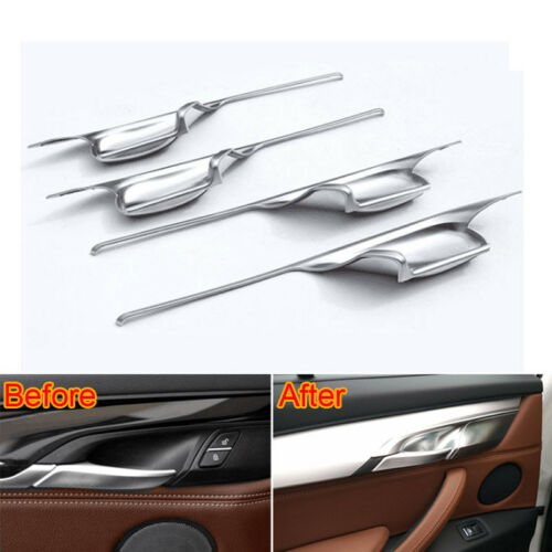 For BMW X6 X5 F15 2014-2018 Car Interior Inner Side Door Handle Bowl Cover Trim