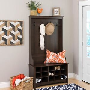 Image Is Loading Entry Hall Tree Coat Rack With Shoe Storage