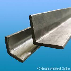 Edelstahl-Winkelstahl V2A 50 x 50 x 5,0 mm L= 500 mm