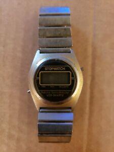 Vintage-National-Semiconductor-Quartz-Digital-Men-039-s-Watch