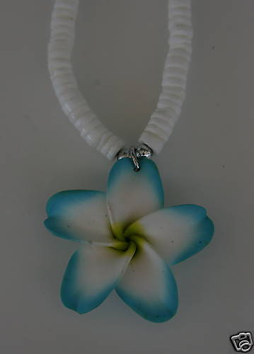 Hawaii Flower Anhänger mit Muschel Kette