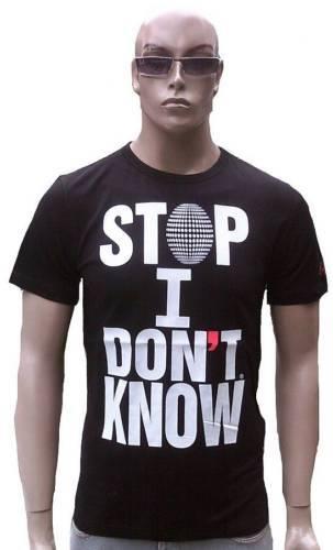 CABANELI MILANO Stop I don /'t know Italy Star DJ Club Clubwear Vip T-Shirt g.M