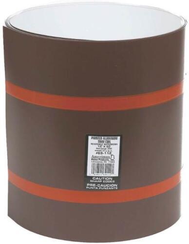 "NEW AMERIMAX 69112 USA 12/"" X 50/' ROLL BROWN /& WHITE ALUMINUM TRIM COIL 6186621"