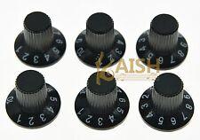 12x Guitar AMP Knob Amplifier Skirted Knobs Black w/ Black Top for Fender