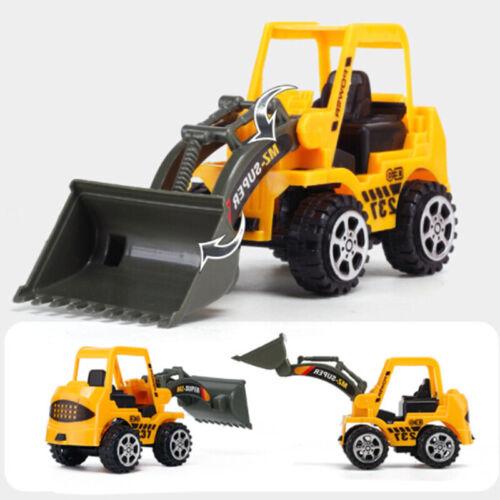 6PCS Kinder Mini Neu Konstruktion Lkw Auto Modell Spielzeug Bagger Geschenke Set