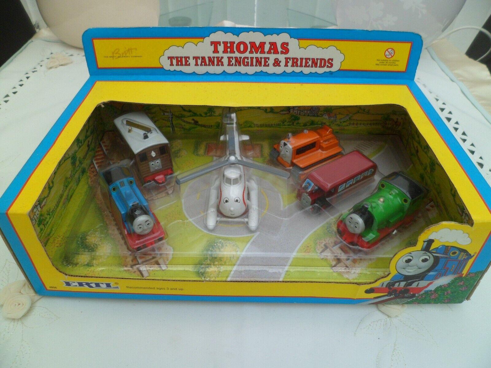 Ertl THOMAS, TANK -MOTORN och vänner låda Set Terence Percy, Bertie, Harold Toby