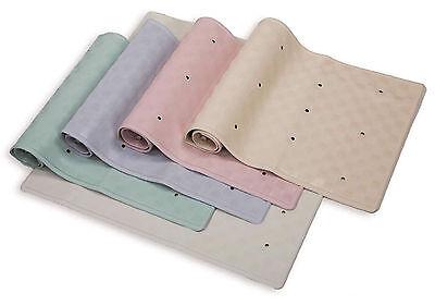 Rubber Bath Shower Mats 34 x 74cm & 37 x 90cm Various Colours & Bath Pillow New