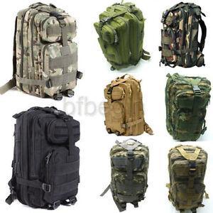 Outdoor Military Tactical Men's Backpack Rucksack Camping Hiking Trekking bag