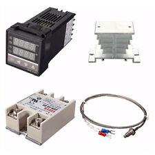 Digital 110 240v Pid Rex C100 Temperature Controller Max40a Ssr W1l3 Usa Ebs