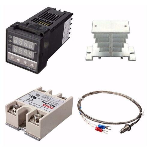 Digital 220V PID REX-C100 Temperature Controller max.40A SSR W1L3 US FAST SHIP