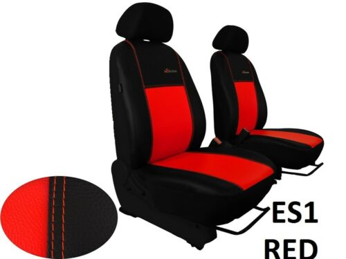 """TOYOTA HILUX Mk8 2016 ONWARDS ECO LEATHER /""""Exclusive/"""" FRONT TAILORED SEAT COVERS"""