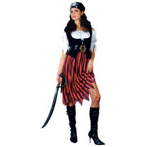 Pirate Skirt Fantasy Shipmate Island Adults Womens Fancy Dress Costume Accessory